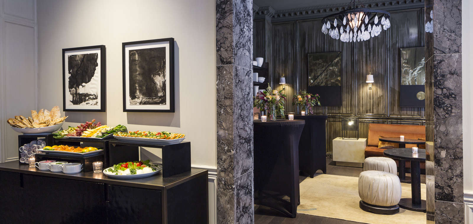 Event Lounge Area with Snack Station