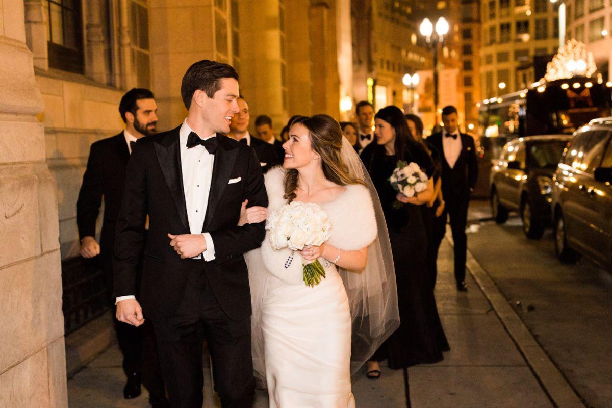 Talbott Hotel_Weddings_Bride and Groom Walking